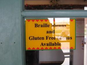 Gluten Free Menu!