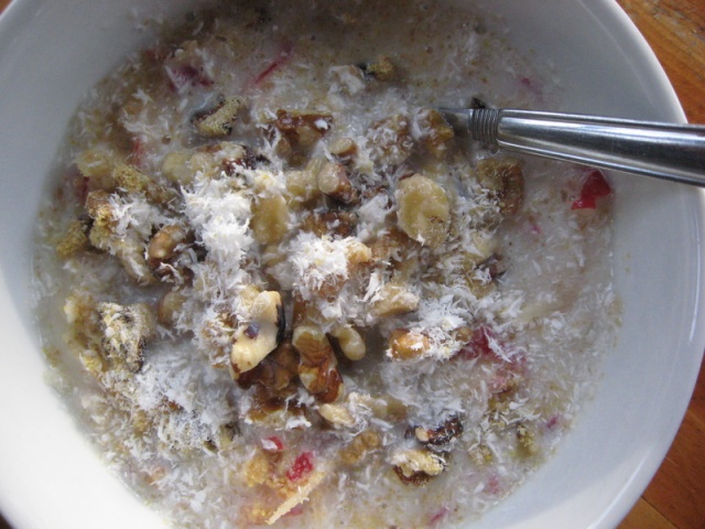 Apples, Walnuts, Coconut, Flax Seed