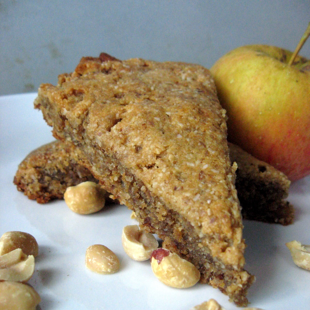 Apple Peanut Scones (grain-free, vegan)