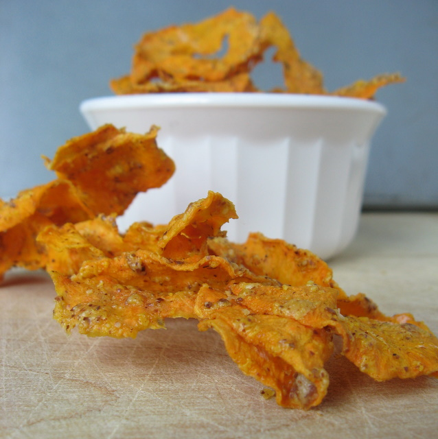 Almond Butter Sweet Potato Chips