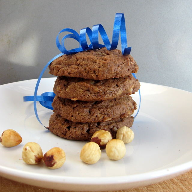 Peanut Butter Nutella Cookies - the gluten-free, vegan version