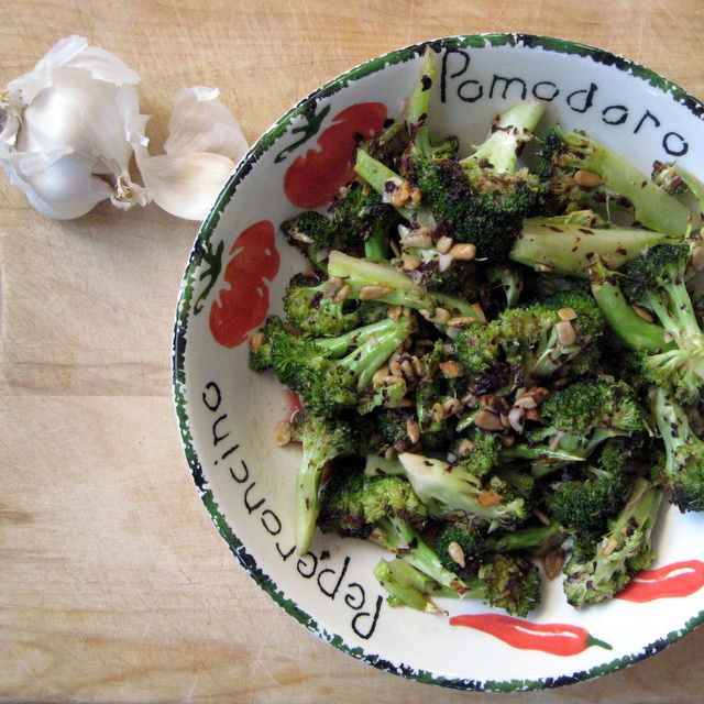 Vegan, Nut-Free Italian Roasted Broccoli