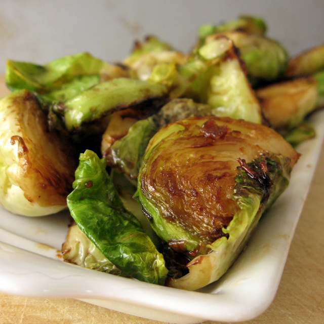 Smoky Caramelized Brussels Sprouts