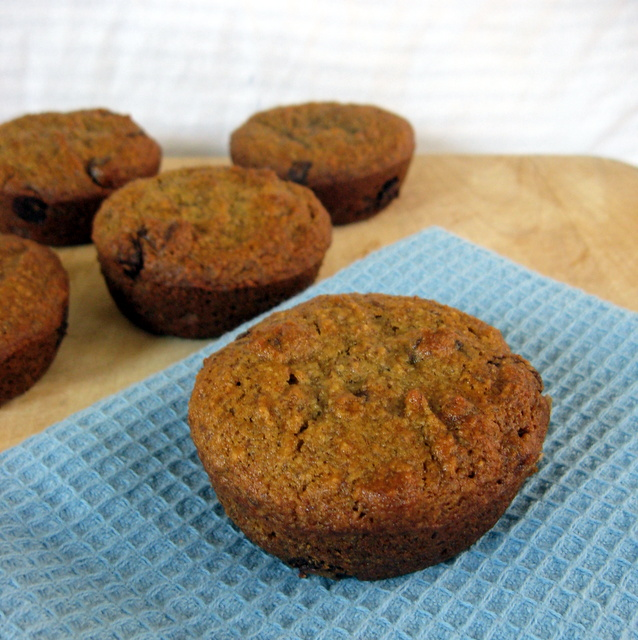 Grain-Free, Vegan Banana Chocolate Chip Muffins