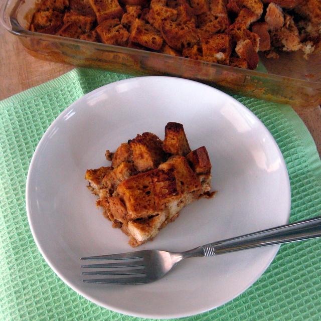 Gluten-free, dairy-free pumpkin french toast bake