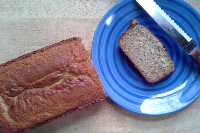 Fresh banana bread - the perfect fall treat.